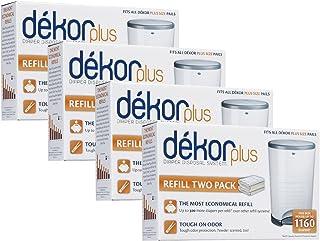 Diaper Dekor Plus Refills 2 Count,(Pack of 4)