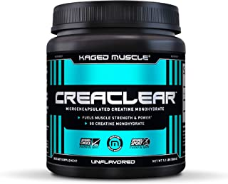 Creatine Monohydrate Powder to Build Muscle & Strength, Kaged Muscle CreaClear Creatine Powder, Proprietary Technology for...