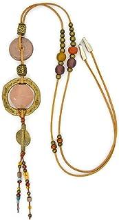 Collana fatta a mano per le donne in stile etnico tribale, gioielli moderni da regalare.