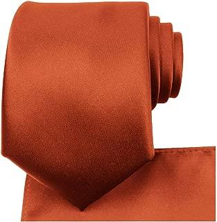 KissTies Solid Tie Set Satin Wedding Ties + Pocket Square + Gift Box