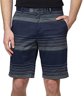 Calvin Klein Lifestyle Mens' Comfort Stretch Twill Flat Front Shorts, 10