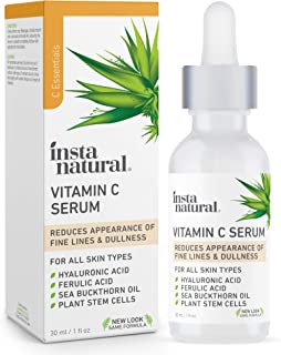 InstaNatural Vitamin C Serum with Hyaluronic Acid & Vit E- Natural & Organic Anti Wrinkle Reducer Formula for Face- Dark C...