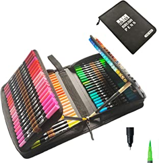120 Colors Dual Brush Pens Art Makers,Fine & Brush Tip Pen Coloring Markers with Canvas Bag for Kids Adults Coloring Book,...