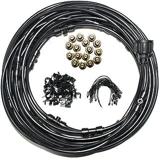 Hylaea Outdoor Misting System, 40Feet Portable 1/4'' Outdoor Flow Mist Cooling System, Outdoor Misting Kit for Patio, Lawn, Garden