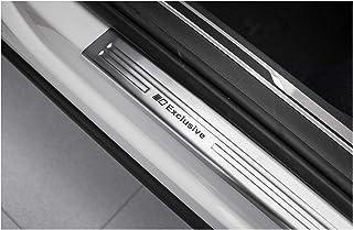tuning art EX128 Edelstahl Einstiegsleisten Set, Farbe:Silber