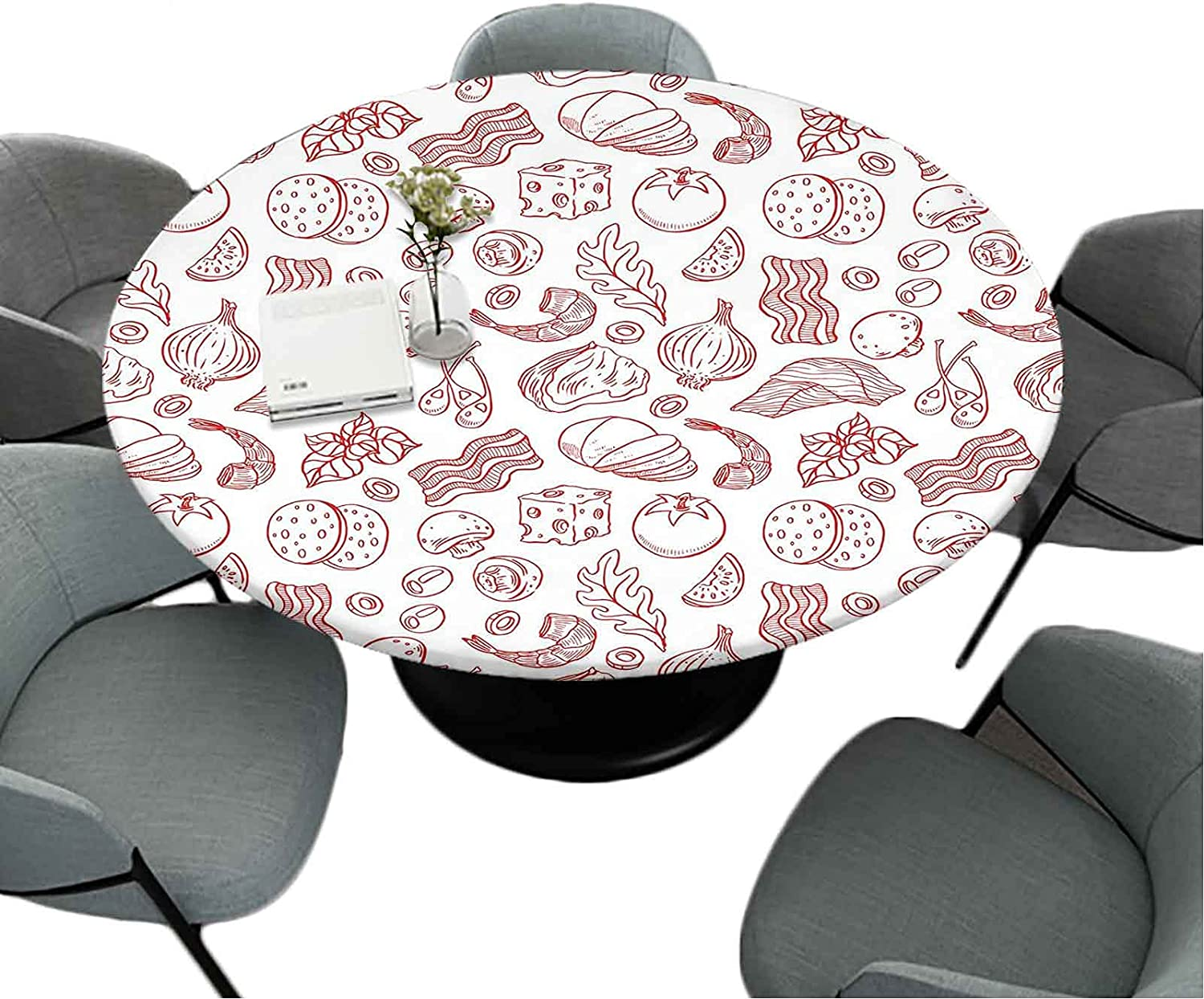 Max 43% OFF Fitted Round Table-Cloth 63 Inch Home D Max 66% OFF Polyester Kitchen