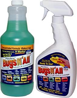 Bugs N All – Multi-Surface Vehicle Cleaner/Bug Remover. 1qt. Concentrate Makes 8..