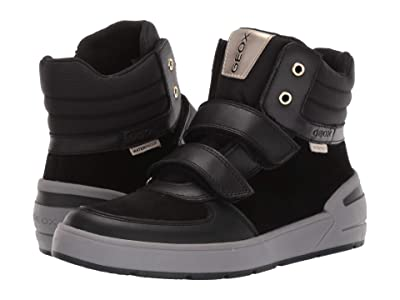 Geox Kids Jr Sleigh Waterproof 1 (Big Kid) (Black Oxford) Girls Shoes