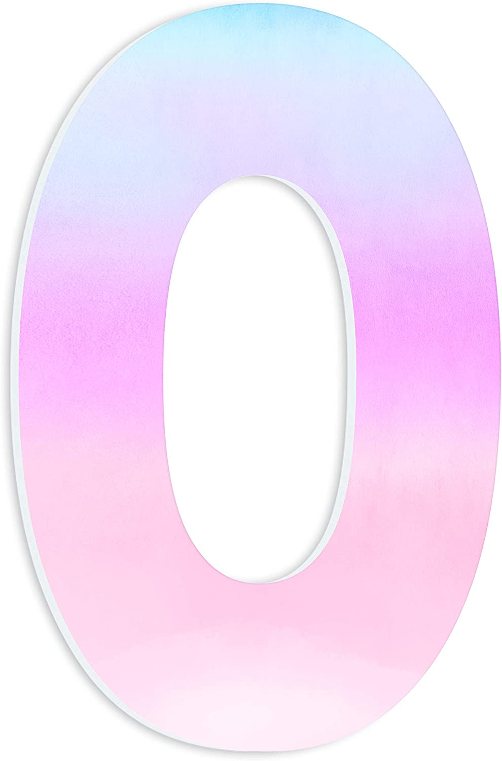 The Stupell Home Decor Soft Pastel bluee Purple and Pink Ombre Oversized Initial Wall Plaque Art, Multicolor