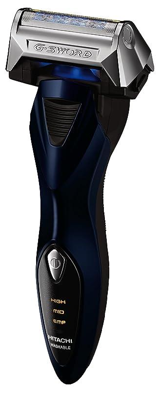 従事したエリート紫の日立 メンズシェーバー ロータリージーソード ダークブルー RM-LX5D A
