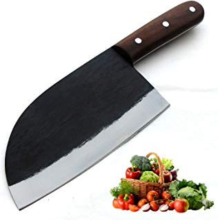 JNR TRADERS Handmade Carbon Steel Cleaver Chopper Kitchen Home Professional Knife 11.5 Inches VK5510
