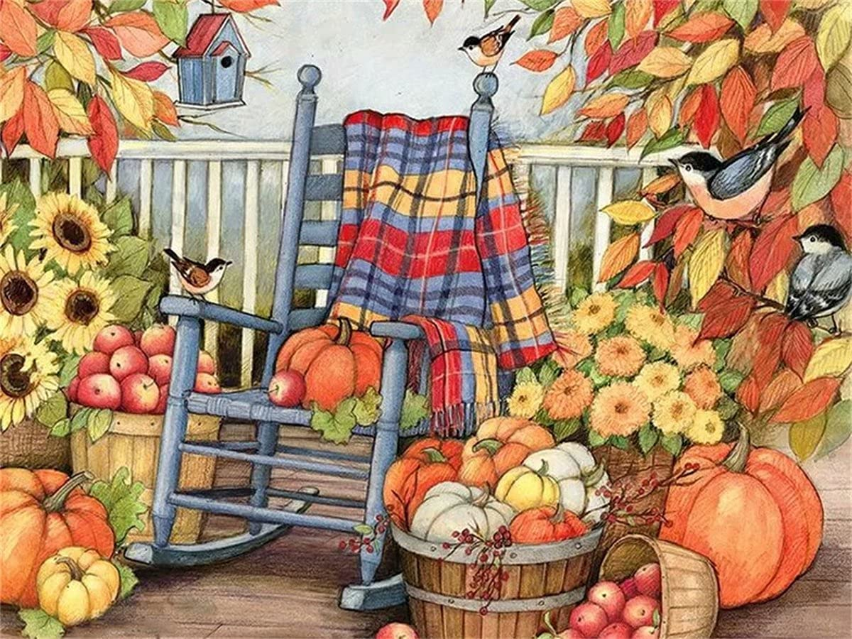Diamond 4 years warranty Painting Harvest of Pumpkins Fashionable Kitss for