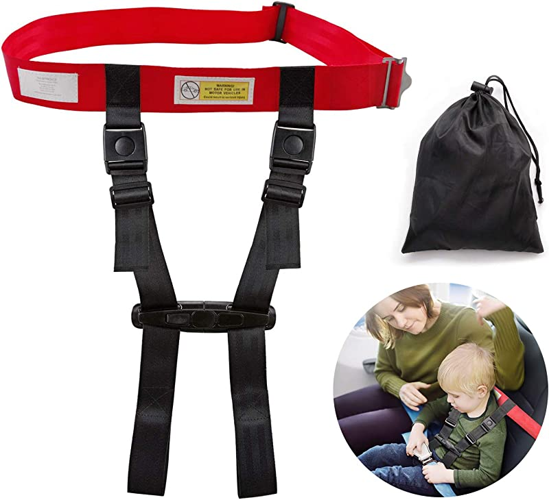 Child Airplane Travel Safety Harness Approved By FAA Clip Strap Restraint System With Safe Airplane Cares Restraining Fly Travel Plane For Toddler Kids Child Infant