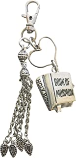 Harper Olivia Women's Book of Mormon Key Chain ~ Purse Tag Charm ~ Backpack Pull Tag