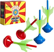 ToyerZ Darts, 4 Lawn Darts Outdoor Games. Outdoor Games for Adults and Family. Backyard Family Games for Kids Outside Toys...