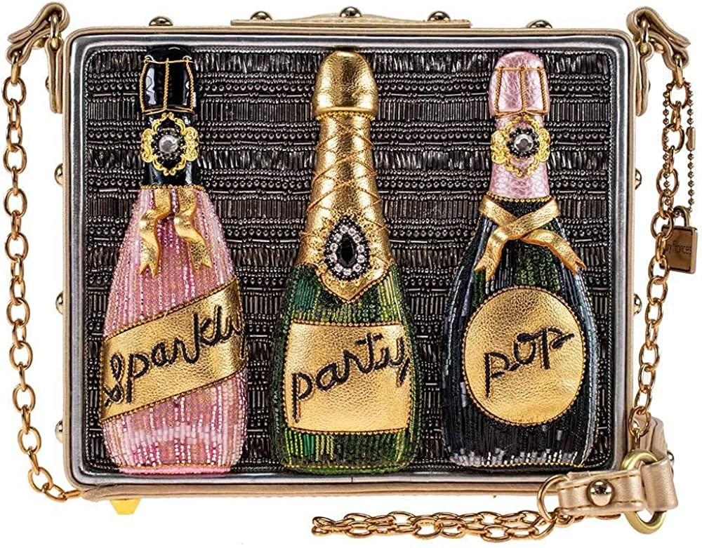Mary Frances Sparkling Beaded Champagne Crossbody Large discharge sale Max 55% OFF Handbag