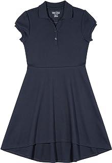 Nautica girls School Uniform Short Sleeve Polo Dress Dress