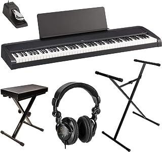 Korg B2 88-Key Digital Piano, Black Bundle with Bench, Stand