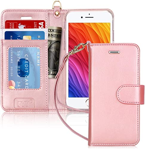 iPhone 6 Case, iPhone 6S Case, FYY [RFID Blocking Wallet] 100% Handmade Wallet Case Stand Cover Credit Card Protector...