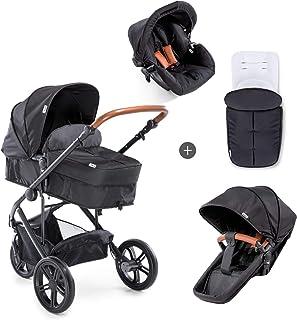Hauck Pacific 3 Shop N Drive, 3-hjuligt, lätt barnvagnspaket upp till 25kg med bilbarnstol för grupp 0, liggdel som kan b...