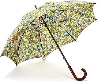 Solid Wood Long Handle Umbrella Creative Large Windproof Folding Umbrella Rain and Rain Umbrella Blue, Green, Red Optional DWWSP (Color : Green)