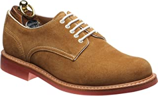 Johnstone Rubber-Soled Derby Shoes in Ginger Suede
