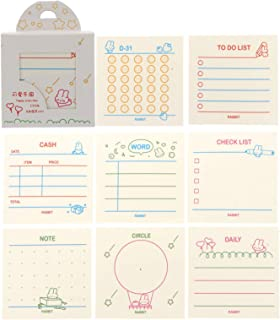 NUOBESTY 1 Set/ 320 Sheets Sticky Notes Square Shape Sticky Memo Post Memo Note Tape Self Stick Notes for Office School Ho...