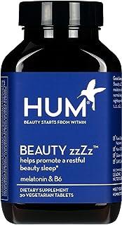 HUM Beauty zzZz Sleep Supplement - Sleep Tablets with Melatonin, Calcium & Vitamin B6 Blend Promote a Deep & Restful Sleep...