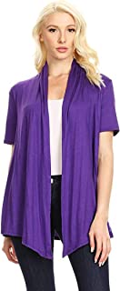 Women's Casual Short Sleeve Office Work Sweater Cardigan