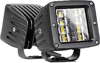 LED Cube Lights, Nirider 2PCS 48W CREE 3 Inch LED Pods Off Road Driving Lights Spot Flood Combo LED Light Bars Square Fog Lights LED Work Light for Truck Jeep Car SUV ATV UTV Boat, 2 Yrs Warranty