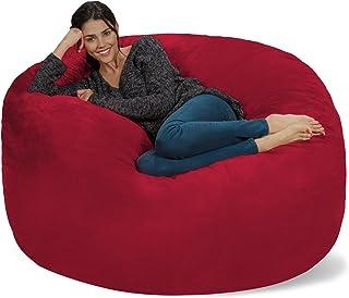 Chill Sack Bean Bag Chair: Giant 5` Memory Foam Furniture Bean Bag - Big Sofa with Soft Micro Fiber Cover - Cinnabar