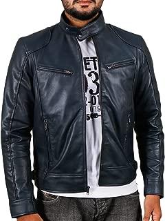 Laverapelle Men's Sword Black Genuine Lambskin Leather Biker Jacket - 1501533
