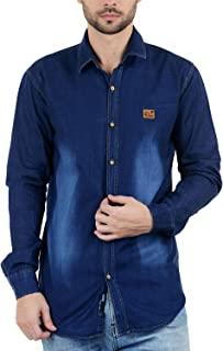 VERO Men's Blue Denim Casual Shirt