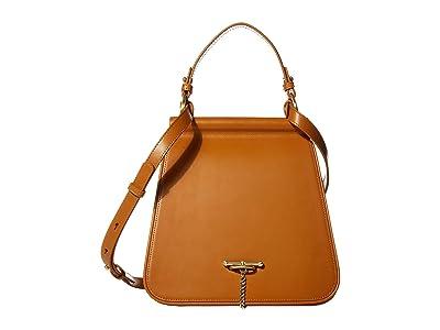 SANCIA Laurel Satchel (Cognac) Handbags