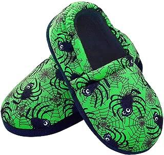 Boys House Slippers Animal Slip on for Kid Anti-Slip Memory Foam Slide Warm Bedroom Shoes for Little Boys