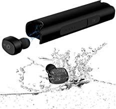 Ceppekyy Bluetooth Earbuds, Wireless Earphones IPX7 Waterproof Headphones TWS Stereo Bluetooth 5.0 in-Ear Earphones, Built-in Mic Headset with Portable Charging Case for Sport
