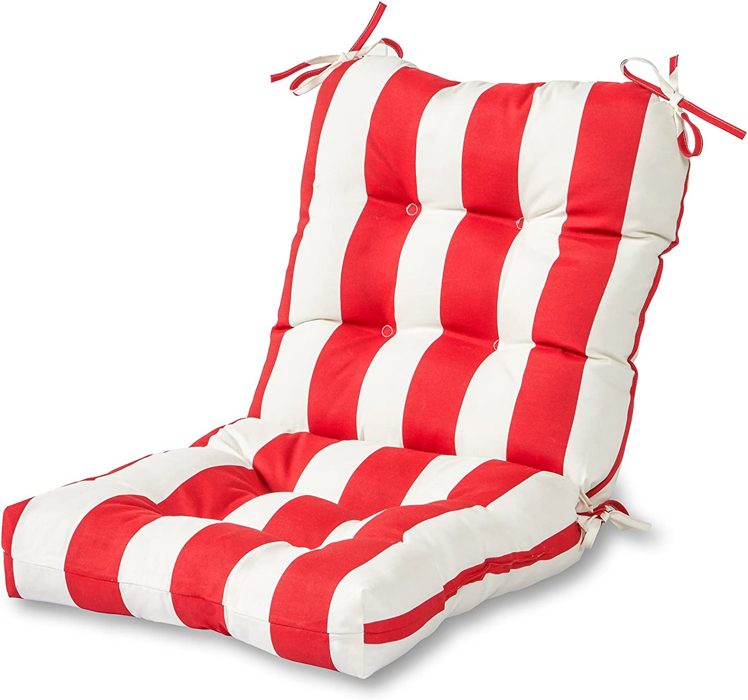 Greendale Home Fashions Shipping included AZ5815-CABANA-RED Stripe 42 San Jose Mall Bungalow Red