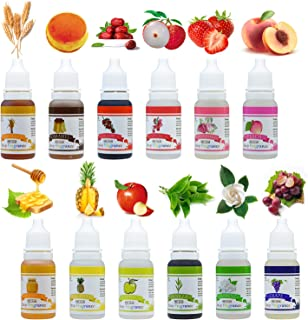 Soap Fragrance Oil - 12 Liquid Soap Scents Set for Bath Bomb Making, Soap Making Supplies, DIY Slime - Concentrated Food Grade Bath Bomb Scents for Cosmetic, Art, Handmade Crafts - 10ml/0.35oz Each