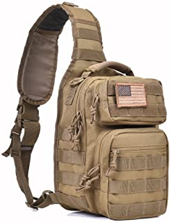 Tactical Sling Bag Pack Military Rover Shoulder Sling Backpack Molle  Assault Range Bag Everyday Carry Diaper 4196f3b1eabe2