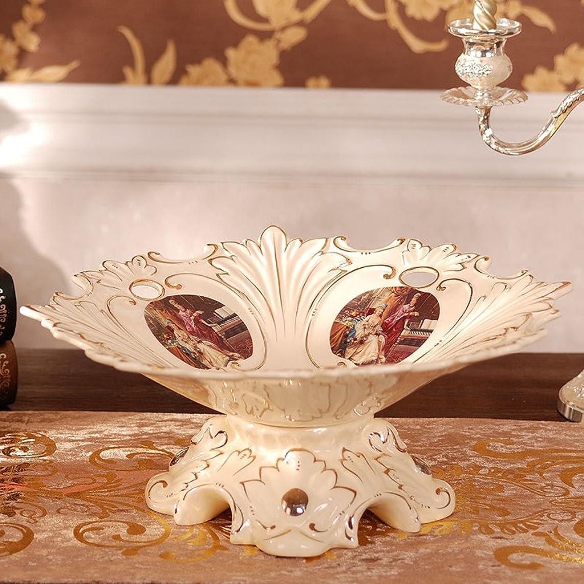 LIUYUN European Style,Ceramic Fruit Bowl Dried Fruit-Box Creative Candy Dish-B