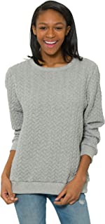 Flying Colors Women's Cable Knit Relaxed Fit Sweater
