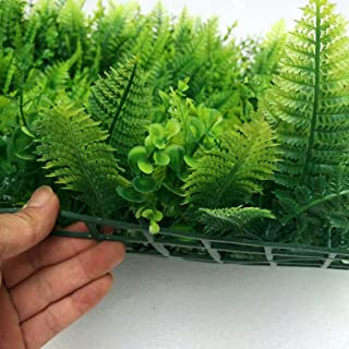 comprar comparacion 40 * 60cm Césped de Plantas Flor Hierba Hoja Enredaderas Artificiales Pared Adorno
