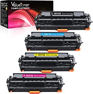 Valuetoner Remanufactured Toner Cartridge Replacement for HP 305A 305X CE410A CE410X CE411A CE412A CE413A for Laserjet Pro 400 M451dn M451nw M475dn M475dw M451dw M375nw (Black, Cyan, Magenta, Yellow)
