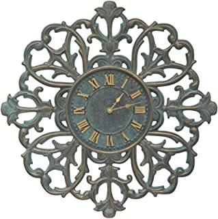 Whitehall Filigree Silhouette 21-in Indoor Outdoor Wall Clock - 01226