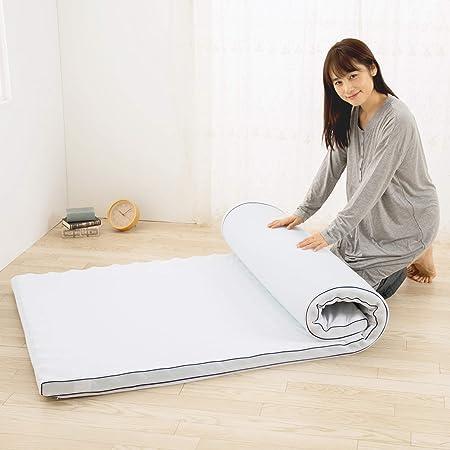 東京西川 SEVENDAYS マットレス トッパー ホワイト シングル 重ねて寝心地アップ 体圧分散 通気性 コンパクト 専用バッグ付き HD09108592NV