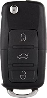 SCITOO Keyless Entry Remote Flip Key FOB Shell 1PC 4 Button Replacement fit Volkswagen Beetle/Golf/Jetta/Passat HLO1J0959753AM