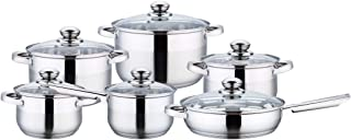 Wilson CKB4-156-G 12Pieces Cookware Set, Silver, W 53.2 x H 29.0 x D 21.8 cm, Stainless Steel