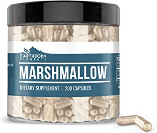 Earthborn Elements Marshmallow Root (200 Capsules) High in Mucilage, 100% Pure & Potent, Non-GMO & Gluten-Free (950 mg Ser...