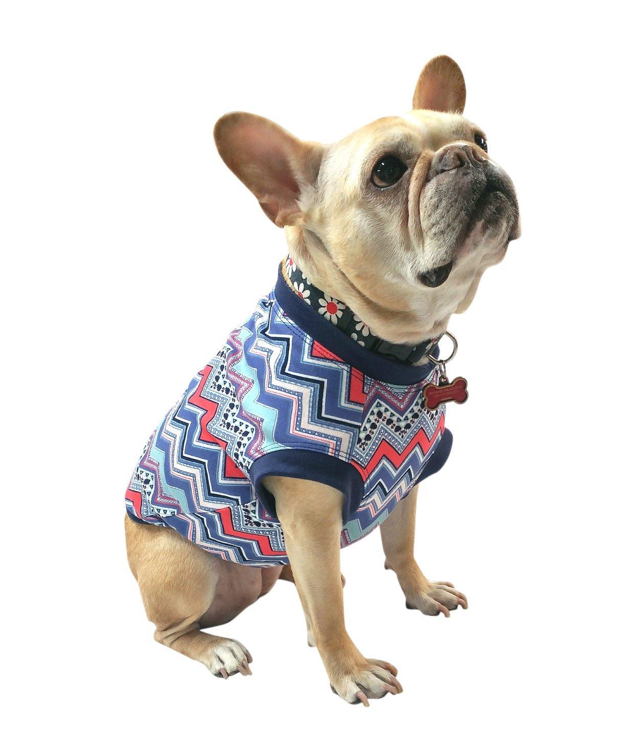 Pink and Phoenix Minneapolis Mall Mall Blue Chevron Girl Dog Bulldogs S Clothing Tshirt French
