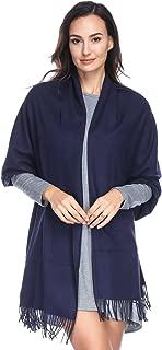 HOYAYO Einfarbiger Kaschmir schal für Frauen,Damen Umschlagtuch Pashmina Schal Tuch Stola(vielen Farben)